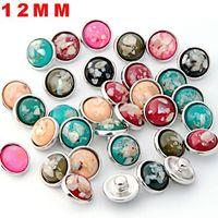 Deri Charms Bilezik İçin Pretty Takı Ucuz İçin Snap Düğme Kolye 12mm Zencefil Yapay elmas Toptan Takı Diy Aksesuar