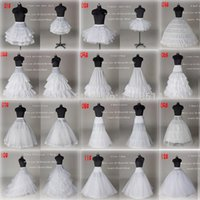 10 estilo barato blanco una línea vestido de bola de la sirena de la boda Baile nupcial Enagua Falda falda del tutú de los accesorios de la boda de Crinoline