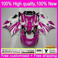 Körper für KAWASAKI ZX 11R ZZR1100 ZX11R 93 98 99 00 01 52HM.68 ZZR 1100 CC ZZR1100 ZX11R 1993 1998 1999 2000 2001 Verkleidungs-Kit Pink Rose