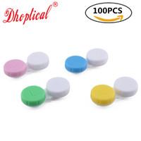 コンタクトレンズケース100ピースメガネケース、コンタクトレンズケース良質低価格でDHOPTICAL
