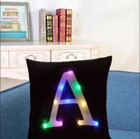 Led Letters Pillowcard Case Cover A-Z English Letter Pillowcads Linen Cotton Throw Pillowcads Sofa Car Pillowcover Free DHL LXL588-1