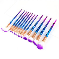 Profesional 12pcs Brush Set Cream Power Pinceles de maquillaje profesional Multipurpose Beauty Cosmetic Puff Batch Brushes con bolsa de opp envío gratis