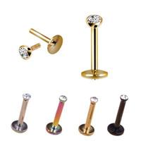 Piercings gioielli argento orecchio orecchino orecchino anello anello corpo piercing gioielli punk alla moda cristallo anello di labbro anello per bordi chirurgici acciaio labrat
