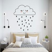 Cloud Girl Raining DIY Art Naklejka Ścienna Cute Dzieci Dekoracji Dekoracji Dom Naklejki Mural Naklejki Tapeta Plakat