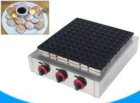 آلة الغاز dorayaki الغاز poffertjes شواء معكرون ماكينة التجارية 100 ثقوب كريب صانع كعكة الهراء