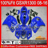 Iniezione per SUZUKI GSXR1300 Glossy Blue Hayabusa 08 09 10 2008 2009 2010 25HC.135 GSXR 1300 GSXR-1300 11 12 13 2011 2012 2013 carenatura OEM