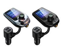 D4 D5 무선 블루투스 자동차 MP3 플레이어 라디오 송신기 오디오 어댑터 QC3.0 자동차 블루투스 FM 스피커 빠른 USB 충전기 AUX LCD 디스플레이 MQ20