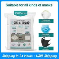 100шт / серия Одноразовые маски для лица Замена Filtering Pad дышащий маска Прокладка дышащих Мат для всех видов Маски оптовой