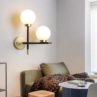 Salon Restoran Dükkanı Çalışması 2 Ampul için İskandinav Modern Yaratıcı Duvar Lambaları Duvar Işık Lüks Ev Dekorasyon Lambası Monteli
