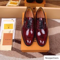duping520 Wine red casual business shoes 207541 Men Dress Sh...