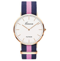 6eb15ae0dfa Legal Relógio Genebra Relógios De Pulso Moda Masculina Mulheres Vestido  Relógio De Nylon Strap Relógio De