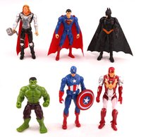 6pcs lot the Avengers figures super hero toy doll baby hulk ...