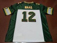 Benutzerdefinierte Männer Jugend Frauen Jahrgang Edmonton Eskimos # 12 Jason Maas Fußball-Jersey-Größe s-4XL oder benutzerdefinierten beliebigen Namen oder Nummer Jersey