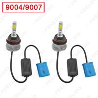 Super White 9004/9007 Salut / Lo 60W 6400LM voiture COB phares LED Kit lampe de brouillard Ampoules Xenon 6000k # 2404