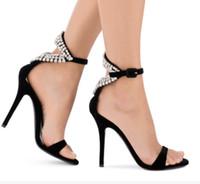 0d2dd055d17 2017 Sexy Crystal Women Sandals Metal High Heels Summer Women Pumps ...