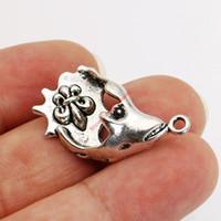 Atacado-prata banhado Iris Peixe Encantos Pingentes para colar pulseira jóias fazendo DIY Handmade Artesanato 33x18mm