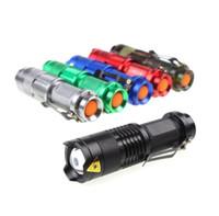 Cree Q5 led el feneri meşaleler taşınabilir mini su geçirmez alüminyum alaşım flaş ışığı ayarlanabilir zoomable odak bataryası lamba