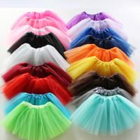 kids tutu Dress skirt 17 candy colors Top Quality dance Kids dresses soft tutu ballet skirt 3layers children clothes Free shipping