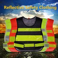 Saneamento roupas de segurança de construção, montando vestuário reflexivo, colete fluorescente, tráfego e reflexivo estrada colete entrega grátis