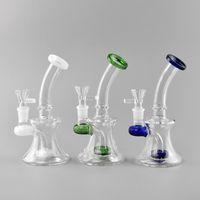 Novo Mini vidro pequeno Bongs Oil Rigs com as bacias livres de vidro 14 milímetros Pipes Feminino Heady taça Dab Rigs água