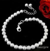 Pulseira pulseira para mulheres homens mulheres moda jóias 925 placa de prata esterlina em alloychain esfera esfera charme pulseiras pulseiras