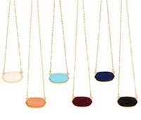7 Colors Option Resin Drusy Look Hexagon Pendant Necklace Dr...