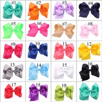 19 Colori Baby Girl Hair Bow Con Clip Kids Hair Clip Accessori Hairpin Hairband INS New 2019