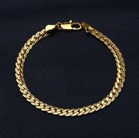 Moda femenina 18K pulsera de oro para las mujeres nupcial del banquete de boda regalo de cumpleaños 5M lado 18 k pulsera de oro