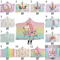 12 Styles Unicorn Cloak Blankets 2018 New 3D Battle Hooded B...