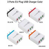 빠른 충전 3.0 USB 충전기 18W의 QC3.0 빠른 아이폰 삼성 샤오 미 휴대 전화 충전기 미국 EU 영국 Verson을 위해 USB 벽 충전기를 충전