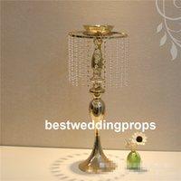 Novo estilo de Cristal De Ouro de Alta Flor Caixas de Vasos Centrais para a Tabela Do Casamento best0834