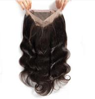 Brésil Bodywave Vague 360 Dentelle Frontal Vierge cheveux Remy Hair Pre plumé 360 cheveux humains Exrensions