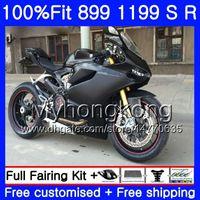 Injektion för Ducati 899 1199 PANIGALE S R Pl Flat Black Hot 2012 2013 2014 2015 2016 325HM.43 899R 1199R 899s 1199s 12 13 14 15 16 OEM FAIRING