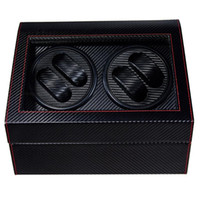 4 + 6 in pelle di qualità superiore Automatic Watch Winder BoxWatches bagagli Holder Jewelry Display PU Guarda Box Ultra silenzioso motore Shaker Box