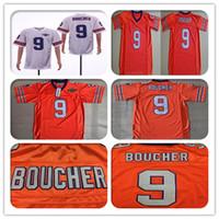 Herren 9 Bobby Boucher Jersey Film Fußball The Waterboy Film Adam Sandler genähte Trikots Orange Weiß 50th Anniversary Patch Größe S-3XL