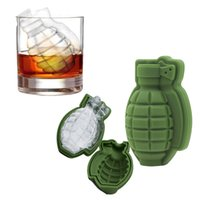 3D Grenade Shape Ice Cube Mold Creative Silicone Ice Molds K...