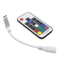 Regulador del LED RGB DC5V-24V 12A 17key mini RF remoto inalámbrico Dimmer para 5050 3528 RGB luz de tira flexible