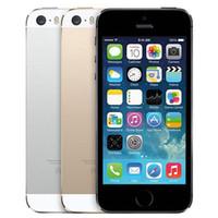 Восстановленный оригинальный Apple iPhone 5S с отпечатком пальца 4,0 дюйма 1GB RAM 16GB / 32GB/64GB двухъядерный IOS A7 8.0 MP разблокированный 4G LTE телефон DHL 30шт
