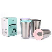 Mode Tasse à café en acier inoxydable Double murs antibrouillard Tumbler haute température résistant aux bouteilles d'eau résistant à l'usine Vente directe 16HW BB