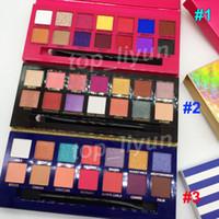 Makyaj 14 Renkler Göz farı Riviera Paleti Göz Farı ile fırça Aina Alyssa Göz Farı Işıltılı Mat göz farı güzellik Kozmetik