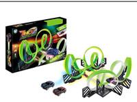 WYT Kreative Neonlicht Rennstrecke Elektrokleinwagen, DIY Montage Multiple Play, Entwicklungsspielzeug, Partei-Weihnachtskind-Geburtstags-Geschenk-2-1