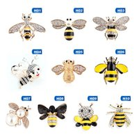 Cristal Strass et Émaillé Bee Hornet Broche Pins Femmes Mode Costume Accessoires Bijoux Cadeau