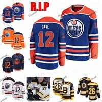립 에드먼턴 oceners 12 Colby Cave Mens Stitched Jerseys Boston Bruins # 26 Colby Cave Hockey Jerseys S-XXXL 사용자 정의