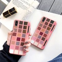 Luxus Designer Lidschatten Make Up Hülle für iPhone X XR XS Max Silikon Handy Back Cover für I Phone 6 7 8 Plus Cool Silicon Cases