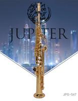 مستقيم أنبوب ساكسفون سوبرانو JUPITER JPS-547GL B (B) اللحن سوبرانو ساكس المهنية آلات موسيقية مطلية بالذهب اللؤلؤ أزرار حالة