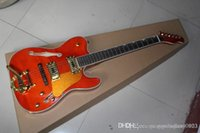 new High quality Semi- hollow electric guitar F- hole red rock...