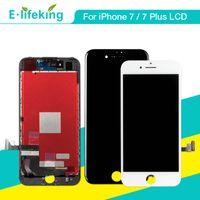 아이폰 7 용 아이폰 7 플러스 LCD 디스플레이 터치 스크린 디지타이저 3D 터치 기능이있는 전체 어셈블리 LCD 교체