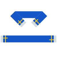 İsveç Eşarp Afiş 6X60 inç 100% Polyester, Dünya Bayrağı Eşarp, Size Verebilir Insanlar veya Oyunlar kullanabilirsiniz