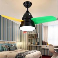 Современные светодиодные 36 дюймовые детские потолочные вентиляторы с подсветкой спальня детский потолочный вентилятор дети 220 Вольт вентилятор лампа Ventilador De Techo