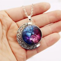 Wolf Under The Star Double Rotation Time Gemstone Necklace C...